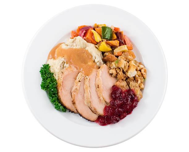 Turkey Dinner Plate stock photo