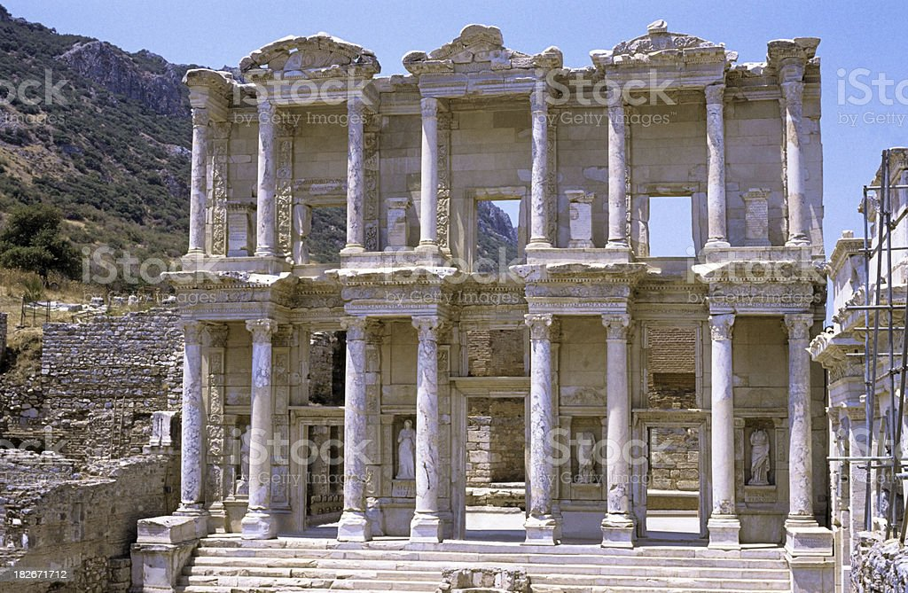 Turkey Ephesus Celsius Library royalty-free stock photo