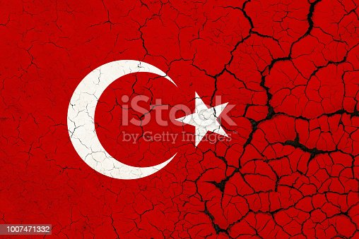 A Cracked And Fragile Turkey Flag