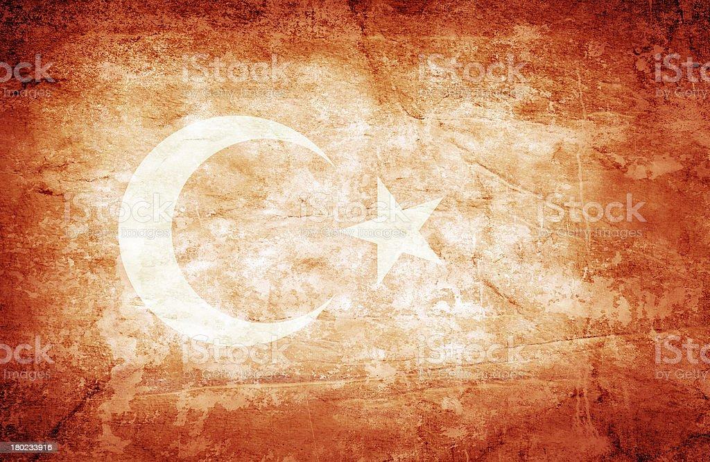 Turkey flag royalty-free stock photo