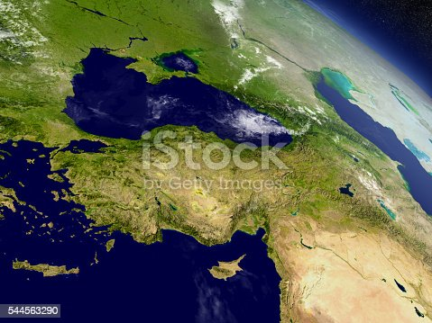 istock Turkey from space 544563290