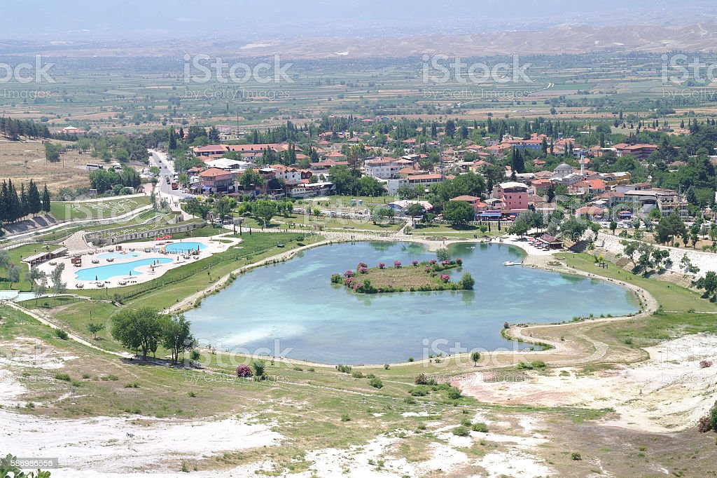 Turkey. Geothermal source of Pamukkale stock photo