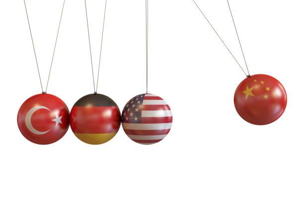 türkei, deutschland, usa, china länder pendel - imperialismus stock-fotos und bilder