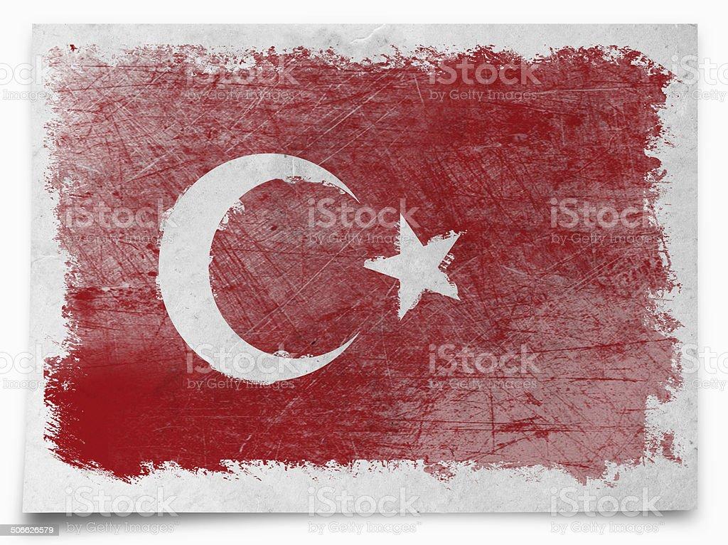 turkey Grunge flag royalty-free stock photo