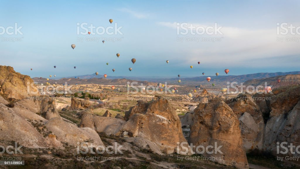 Turkey Hot Air Ballon stock photo