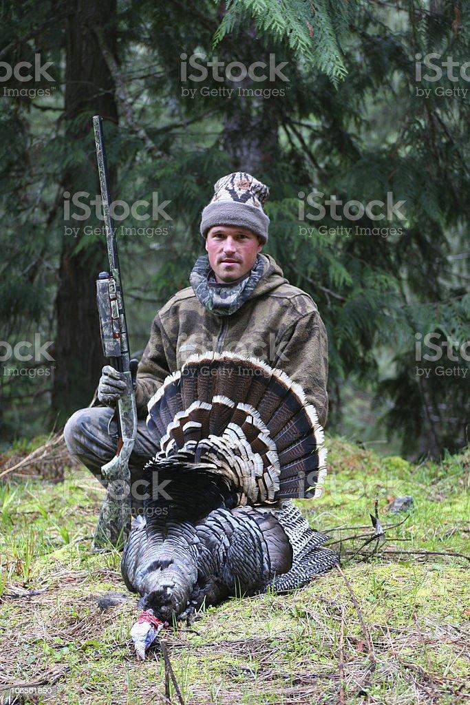Turkey Hunter stock photo