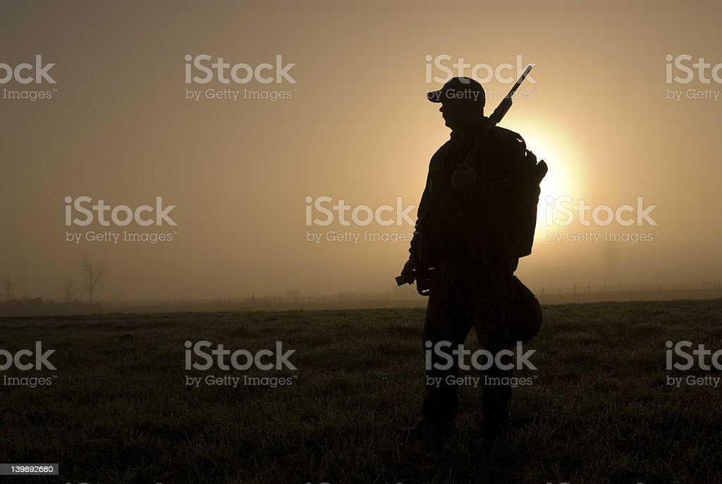 Turkey Hunter stock photo