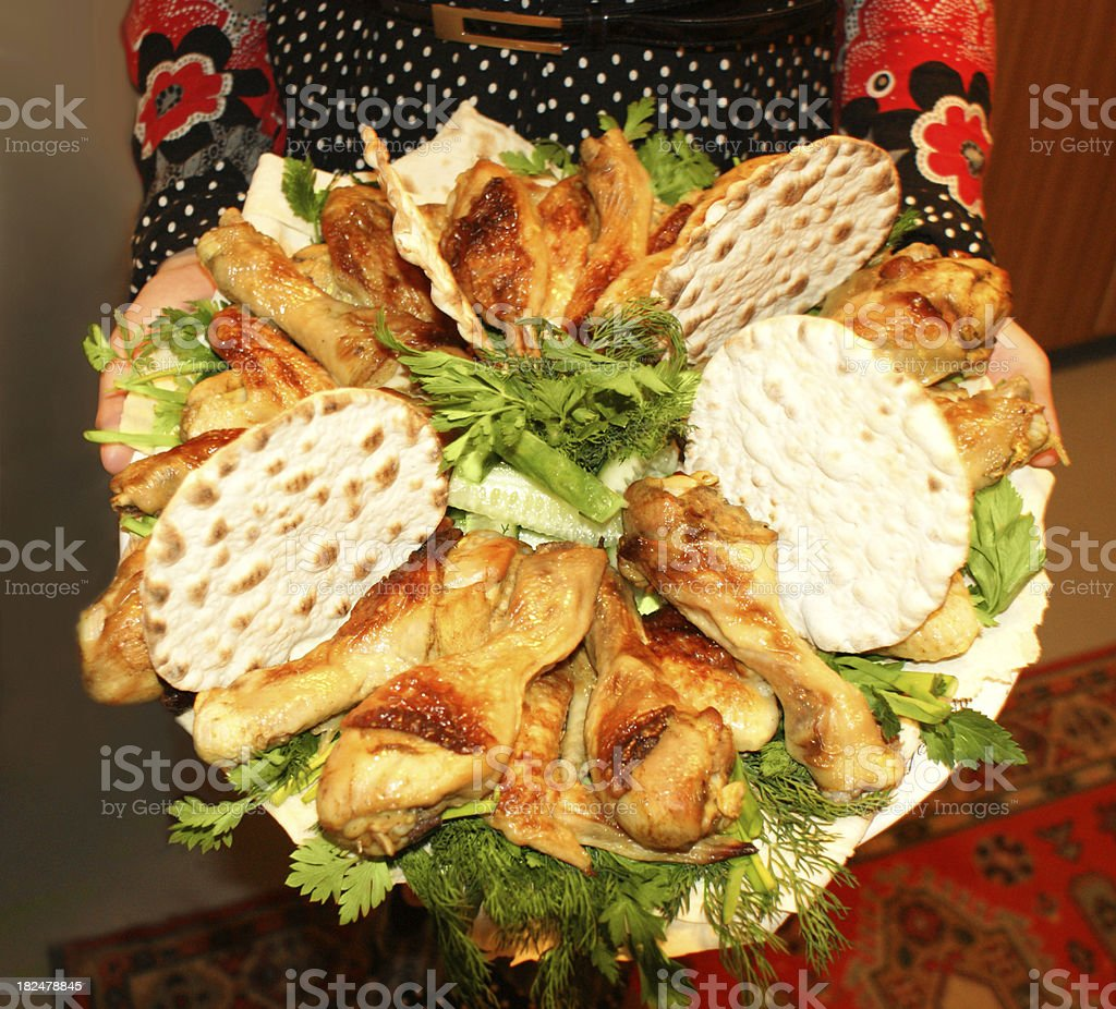 Turkey Meat and bread. royalty-free stock photo