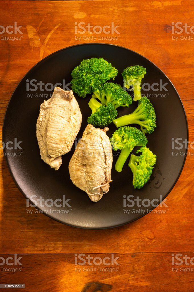 Turkey meat and broccoli vegetables