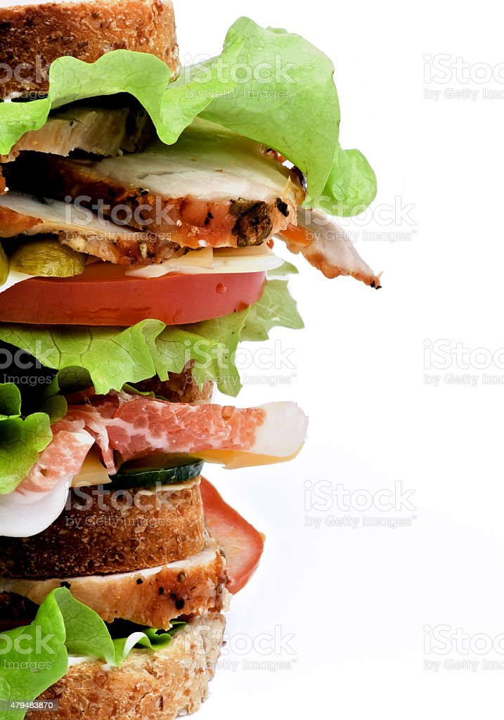Turkey Meat Sandwich stock photo