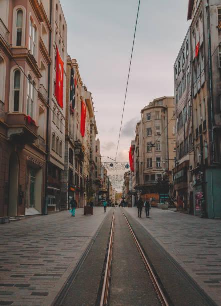 Turkey on Coronavirus, Lockdown. Istiklal Street, Beyoglu, Istanbul stock photo