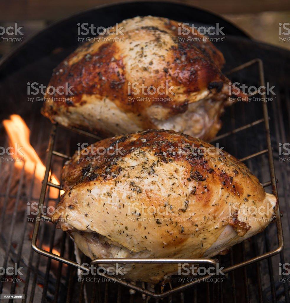 Turkey on the Grill stock photo