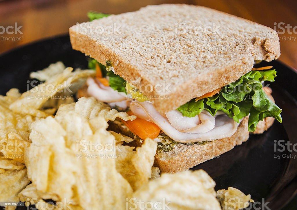 Turkey Pesto Sandwich royalty-free stock photo
