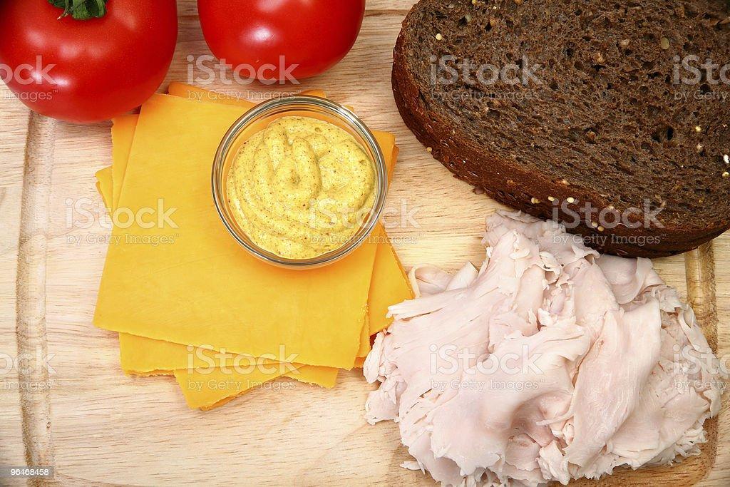 Turkey Sandwhich Ingredients royalty-free stock photo