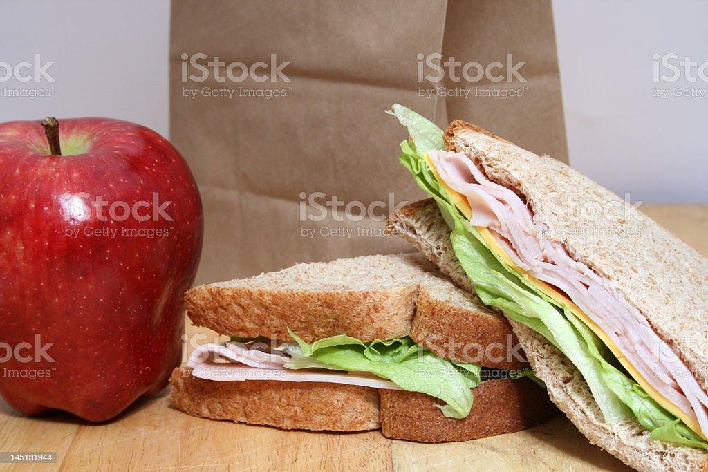 turkey sandwhich stock photo