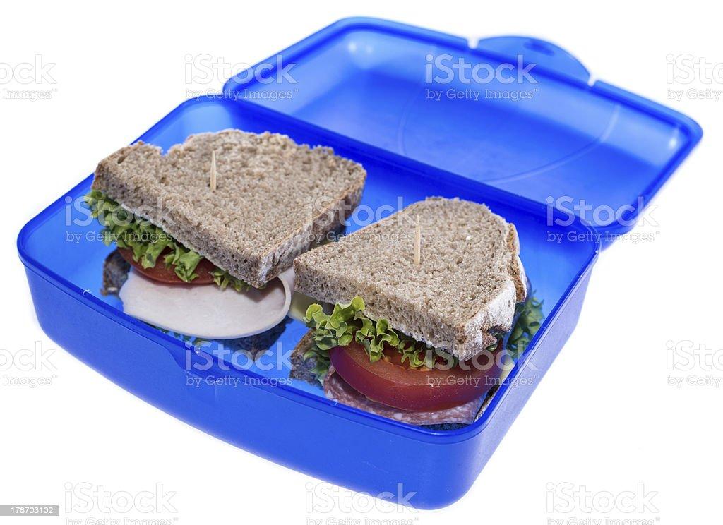 Turkey Sandwich isolated on white royalty-free stock photo
