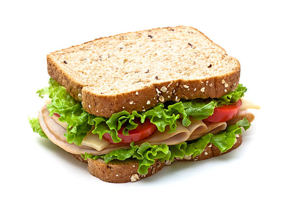 turkey sandwich - cheese sandwich bildbanksfoton och bilder