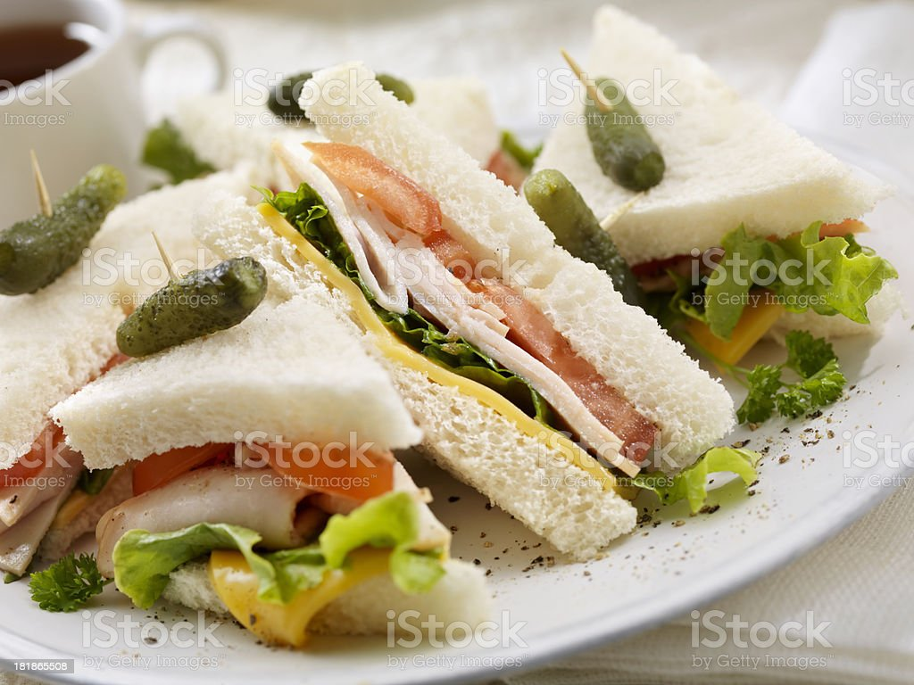 Turkey Sandwiches stock photo