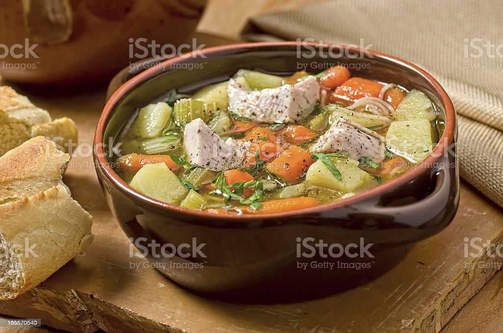 Turkey Soup stock photo
