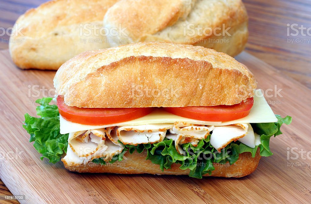 Turkey Sub Sandwich royalty-free stock photo
