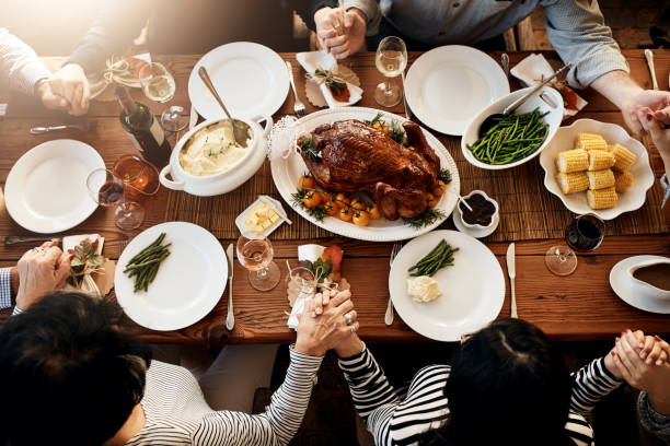 turkey sure is the center piece of every meal - thanksgiving стоковые фото и изображения