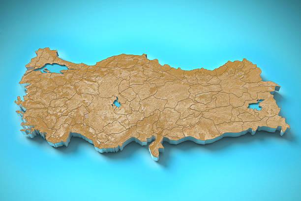 Turkey topography map stock photo