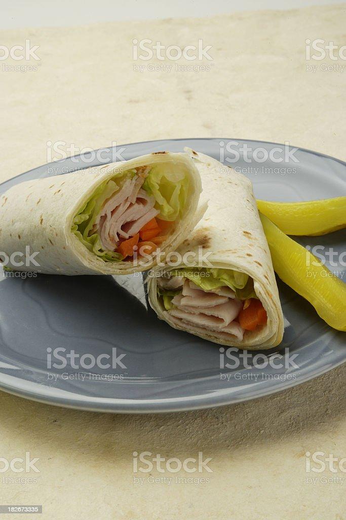 Turkey Wrap Sandwich royalty-free stock photo