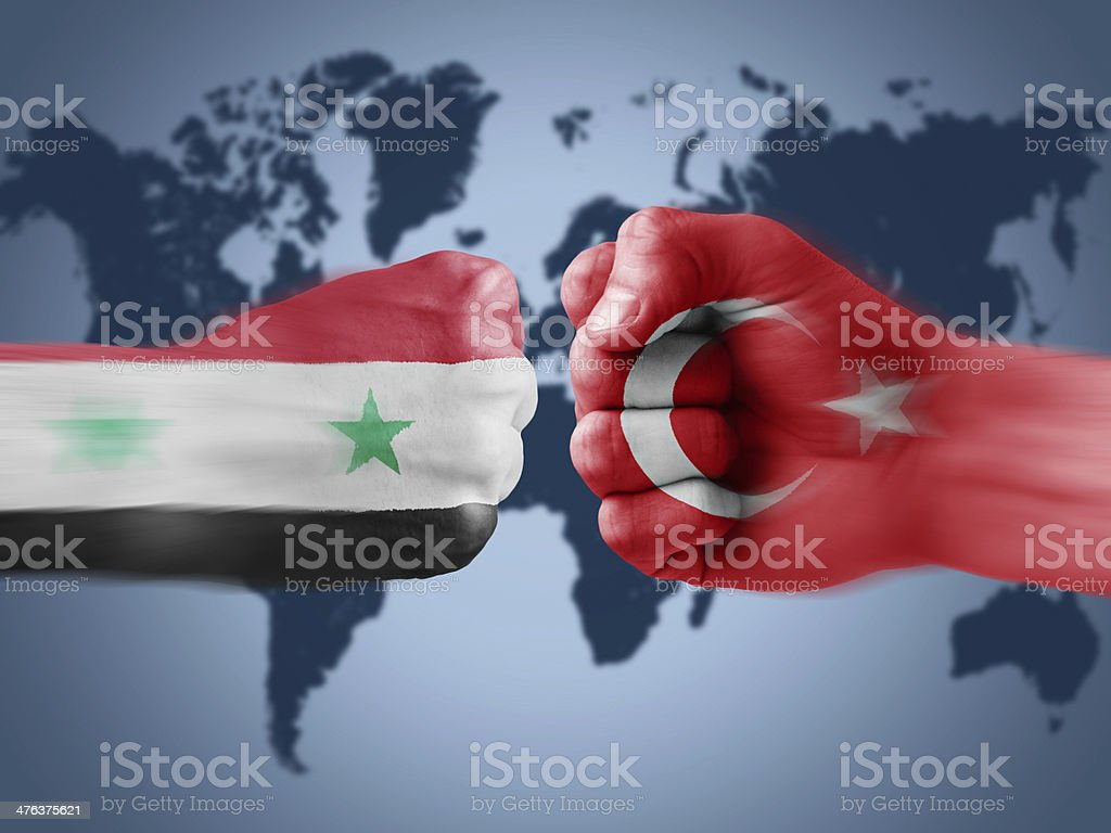 Turkey x Syria royalty-free stock photo