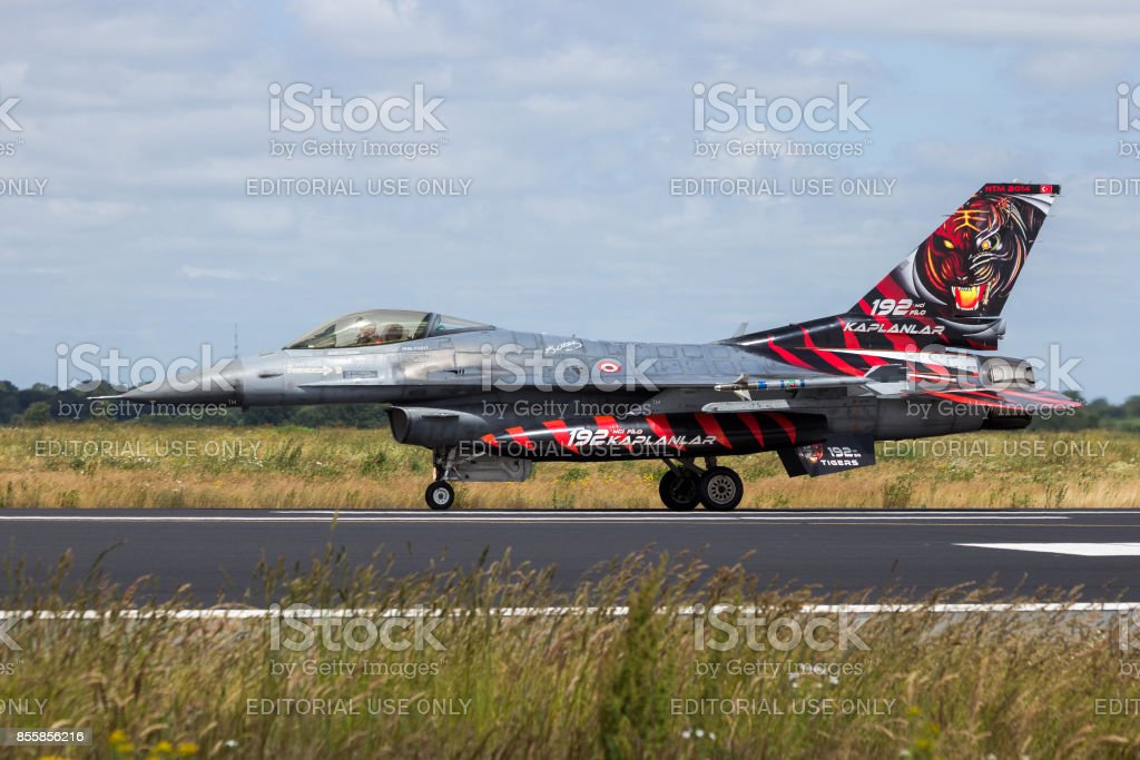 Turkish Air Force F-16 fighter jet stock photo