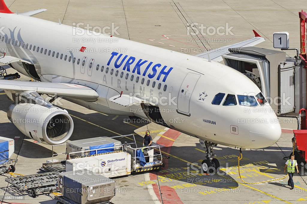 Turkish Airlines Airbus A 320 royalty-free stock photo