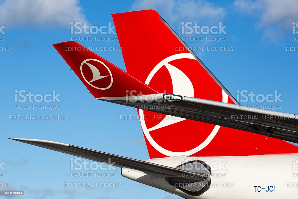 Turkish Airlines Airbus A330-200F Tail and Winglet stock photo
