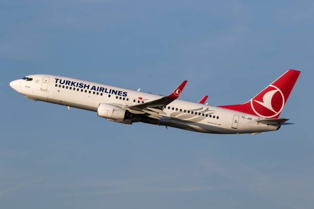 Turkish Airlines Boeing 737 stock photo