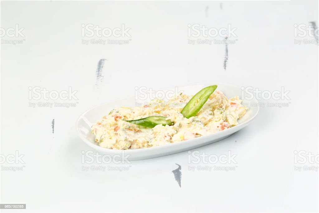 Turkse voorgerecht Haydari met yoghurt (Tzatziki) - Royalty-free Achtergrond - Thema Stockfoto