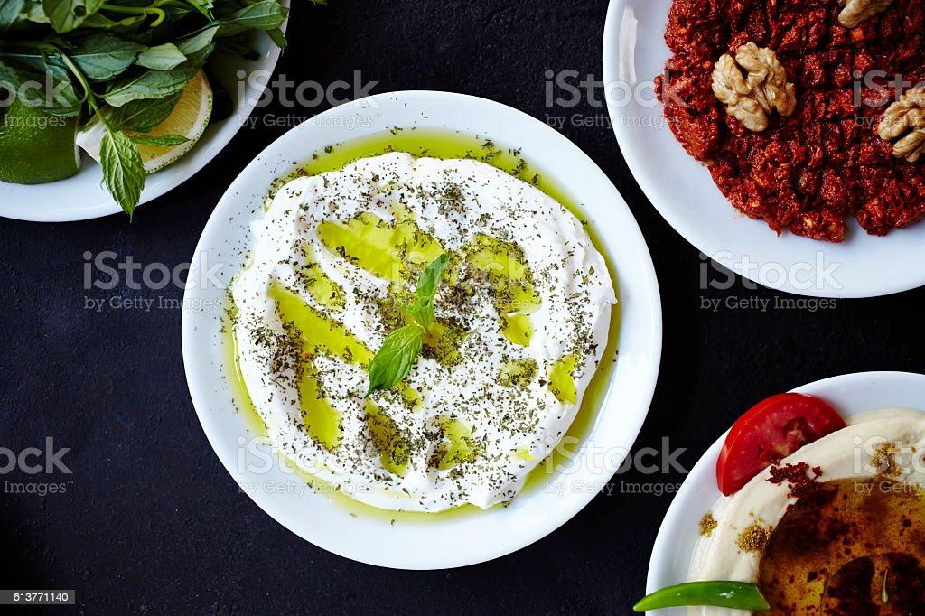 Turkish Appetizer - Meze stock photo