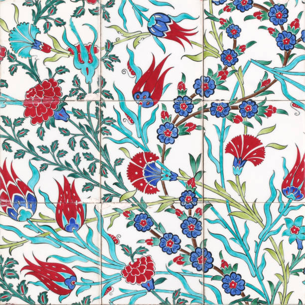 Cтоковое фото Turkish artistic wall tile - floral pattern