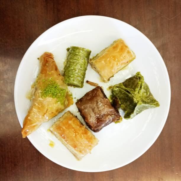 türkische Baklava Dessert Teller in Türkei – Foto
