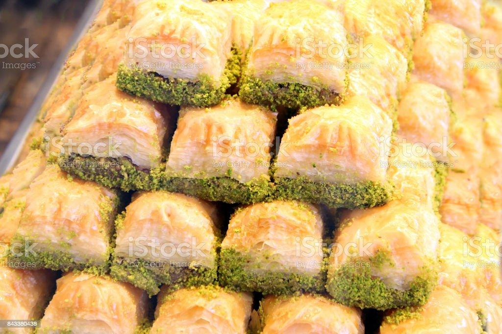 Turkish baklava. stock photo