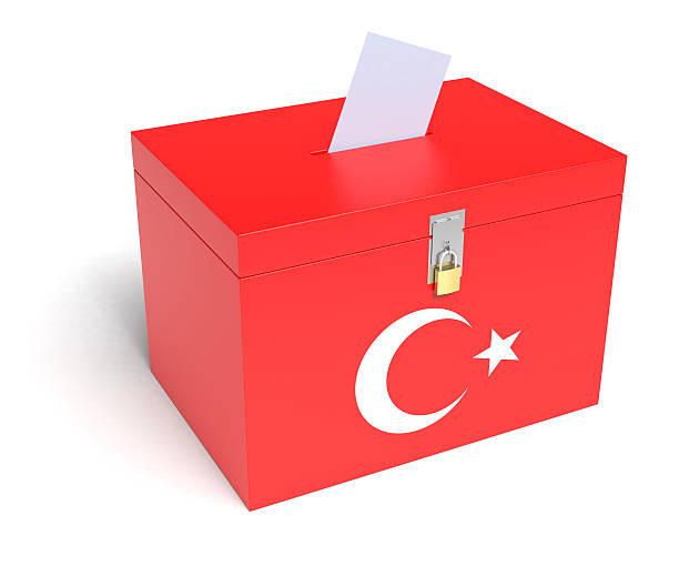 Turkish Ballot Box stock photo
