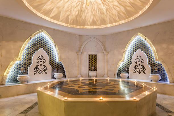 turkish bath hamam - hotels in der türkei stock-fotos und bilder