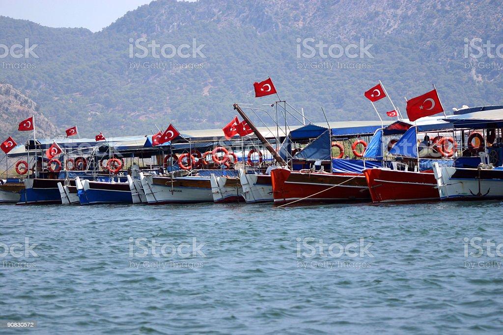 Turkish boats stock photo