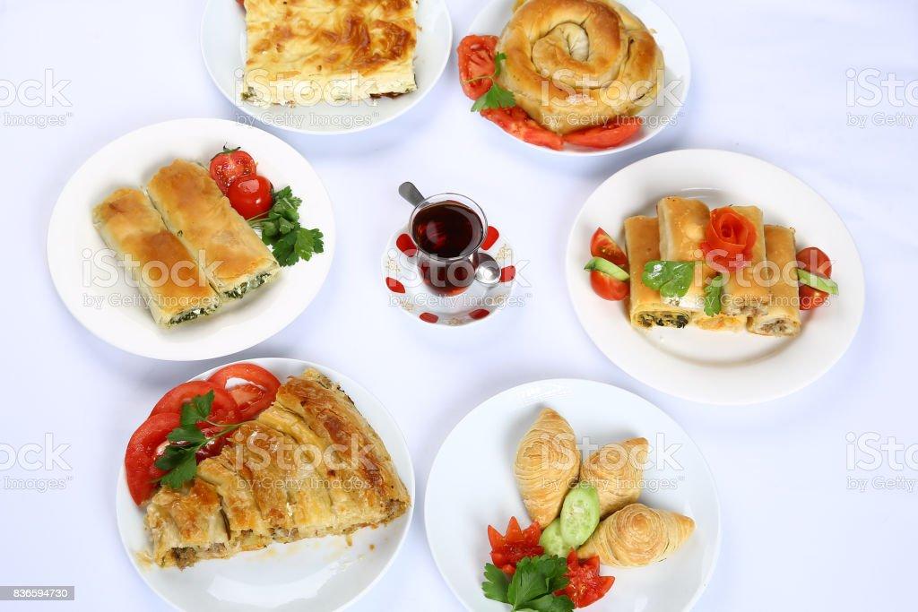 Turkish Borek stock photo