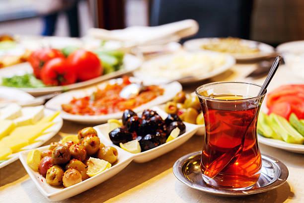 Turkish Breakfast Turkish breakfast table at restaurant breakfast stock pictures, royalty-free photos & images