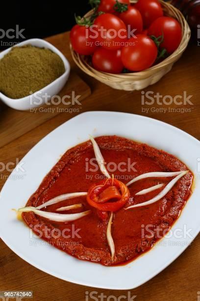 Turkish Breakfast Tomato Sauce Acuka Acika Muhammara - Fotografias de stock e mais imagens de Alho