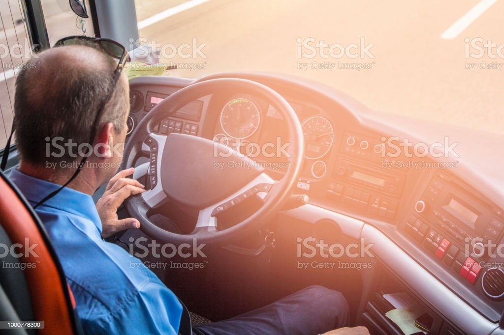 Turkish bus driver stock photo