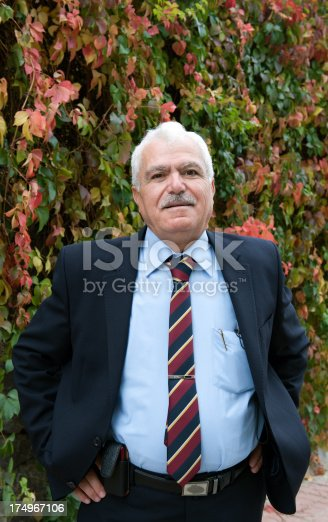Turkish business man portrait, looking at camera.