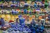 Turkish Ceramics in Grand Bazaar, istanbul