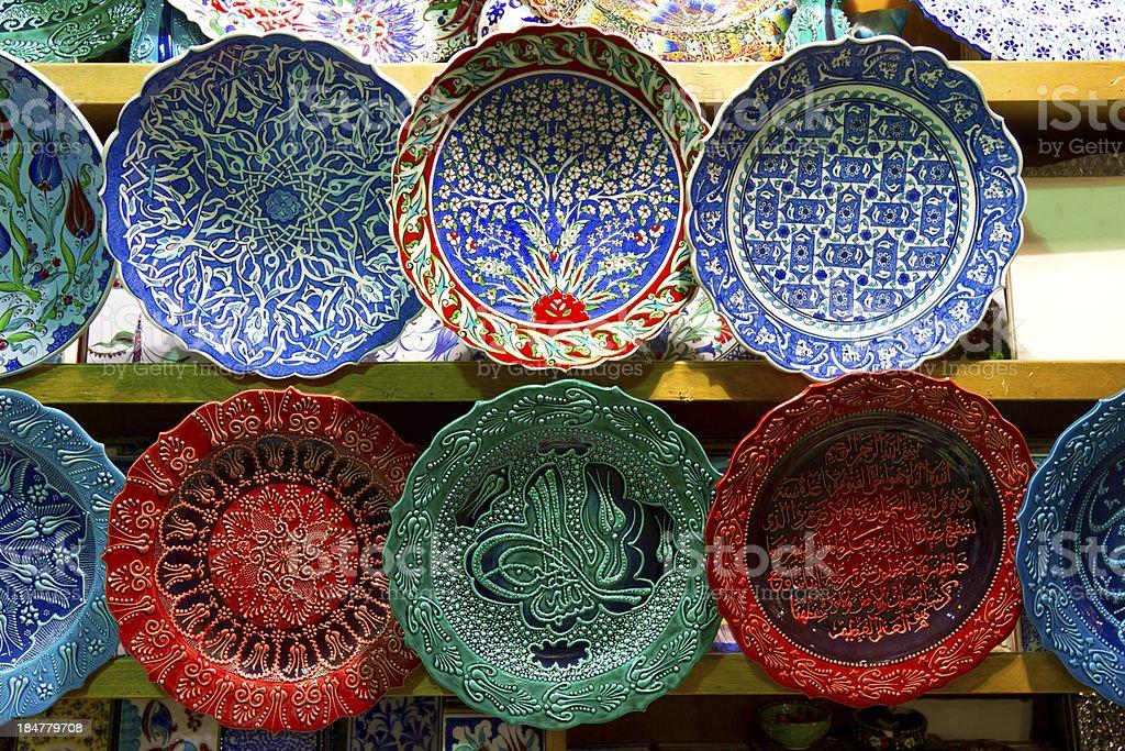 Turkish Ceramics royalty-free stock photo