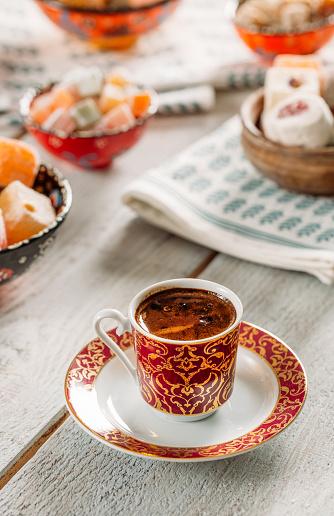 터키어 커피와 터키 즐거움 갈색에 대한 스톡 사진 및 기타 이미지