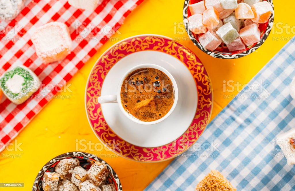Turkish Coffee and Turkish Delights royalty-free stock photo