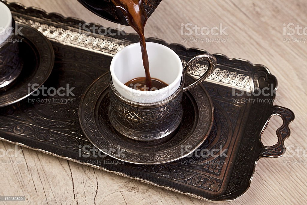 Turkish coffee cup royalty-free stock photo